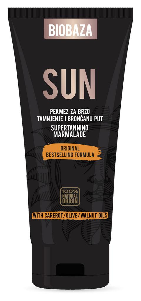 Krema marmel.Biobaza Sun, hitro temnenje, 150ml