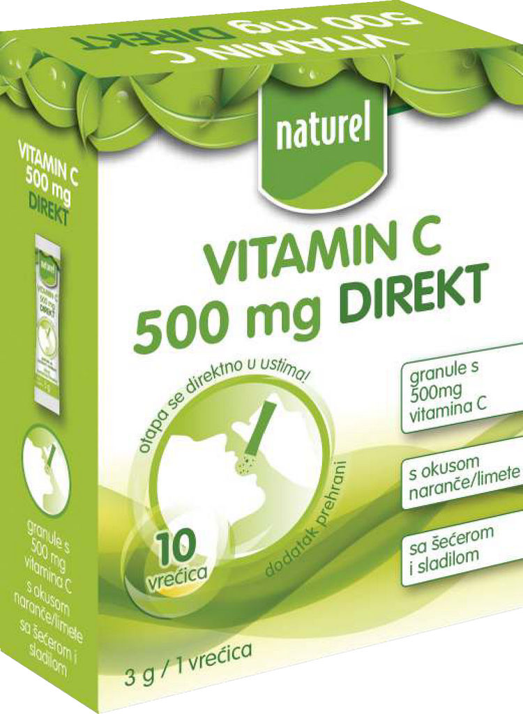 Prehransko dopolnilo Naturel vitamin C 500mg, direkt, 30g