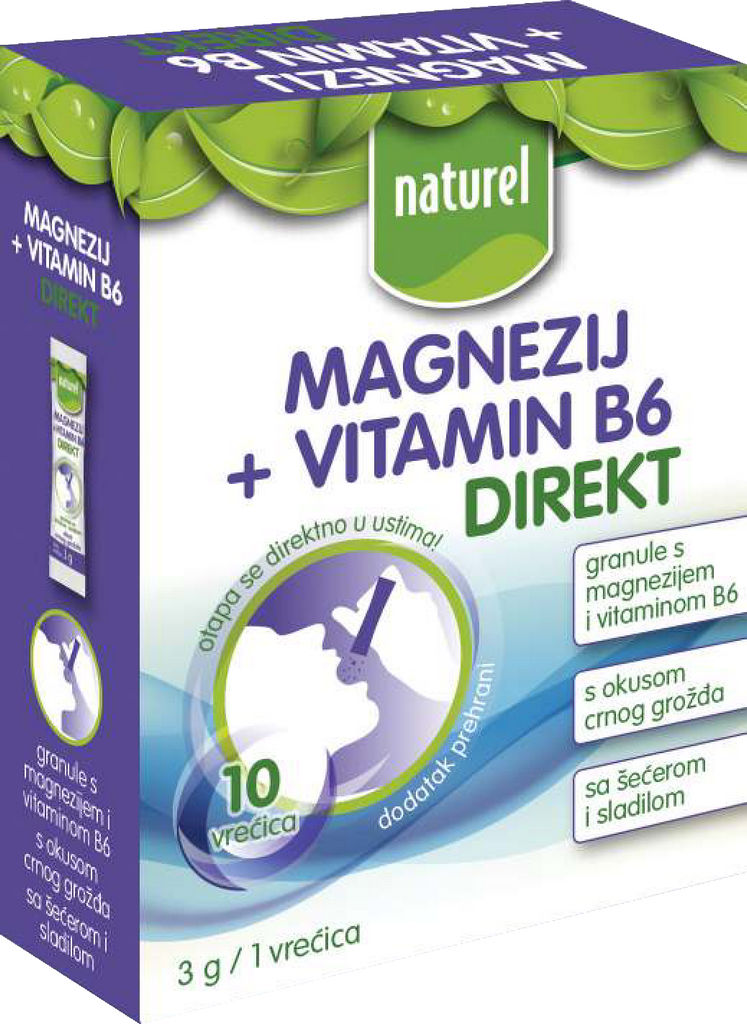 Magnezij + vitamin B6 Naturel, direkt, 30g