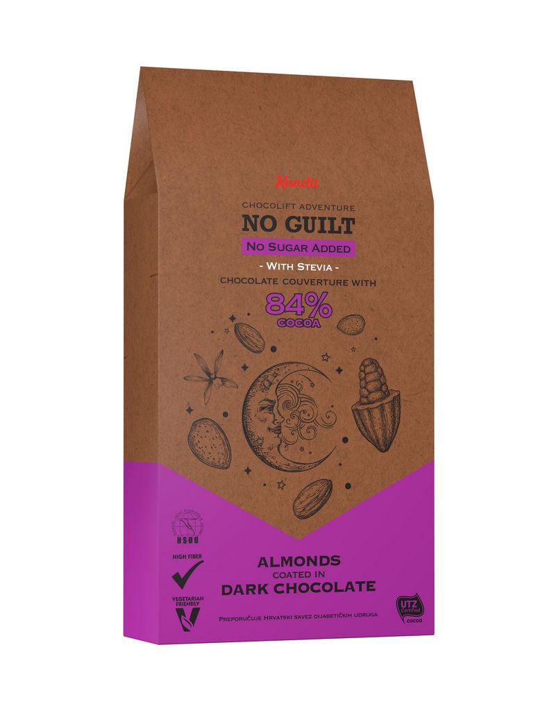 Čokoladni draže Kandit temni mandel  brez sladkorja, 80g