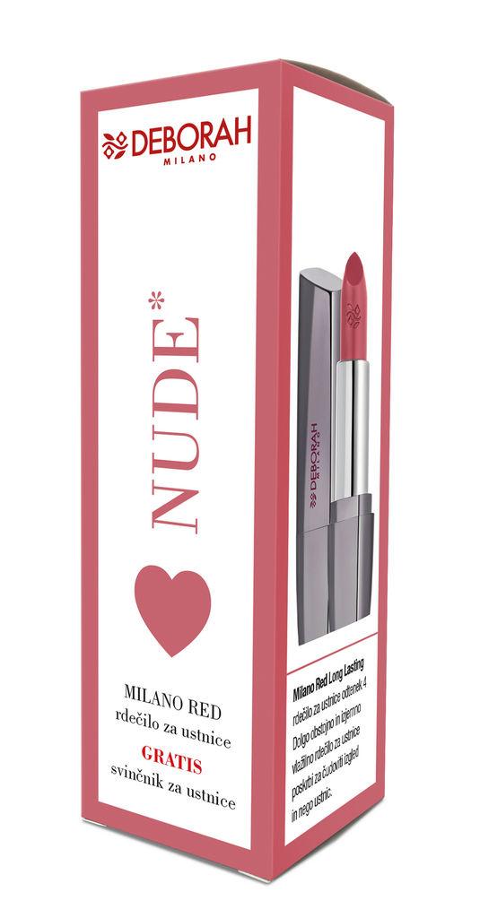 Set Deborah, Milano red, LL Nude