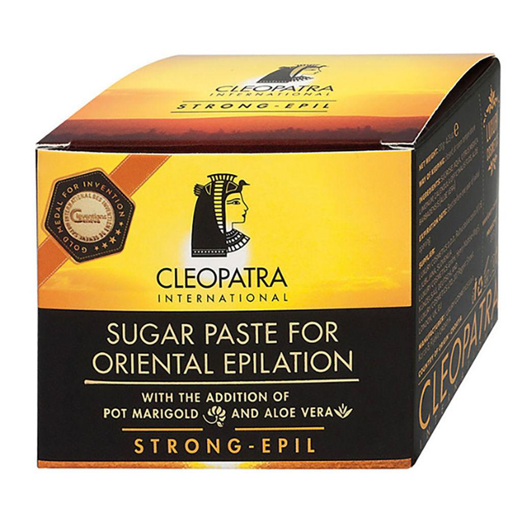 Sladkorna pasta za depilacijo Kleopatra, strong epil, 120 g