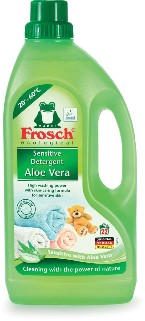 Pralni prašek Frosch, tekoči, aloe vera, 1,5l