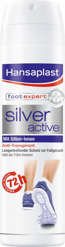 Sprej za noge Hansaplast, Silver active, 150 ml