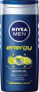 Gel za prhanje Nivea, Men energy, 250ml