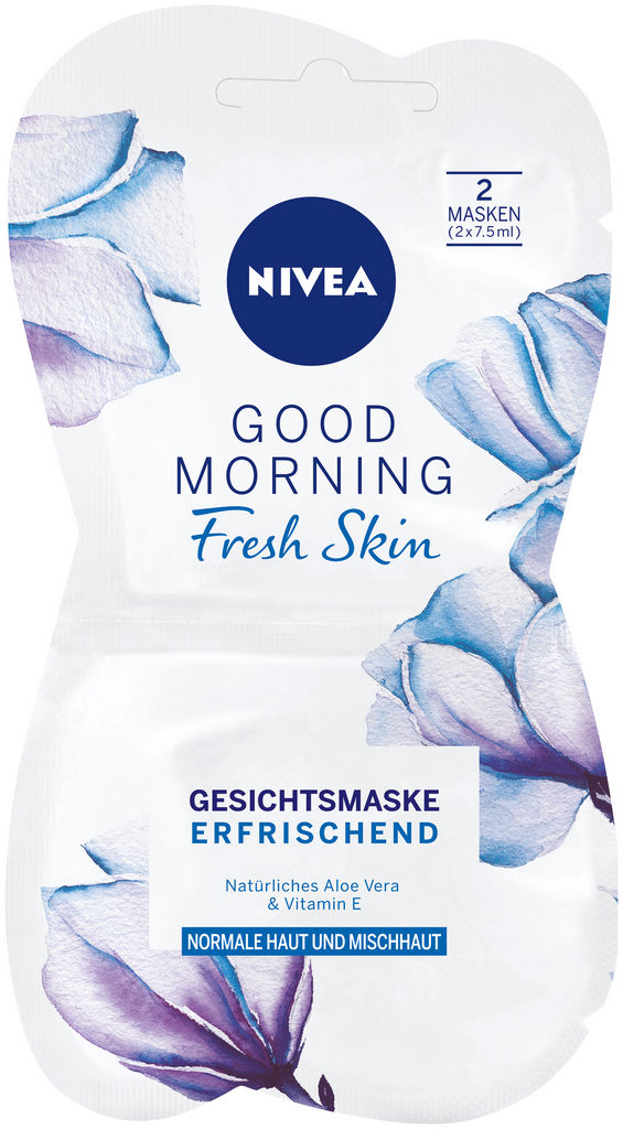Maska Nivea, Good morning, fresh skin, 2×7,5ml