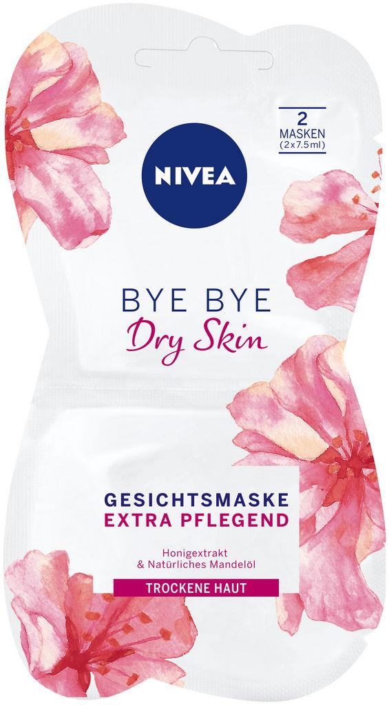 Maska Nivea, Bye bye dry skin, 2×7,5ml
