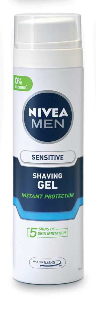 Gel za britje Nivea men sensitive, 200ml