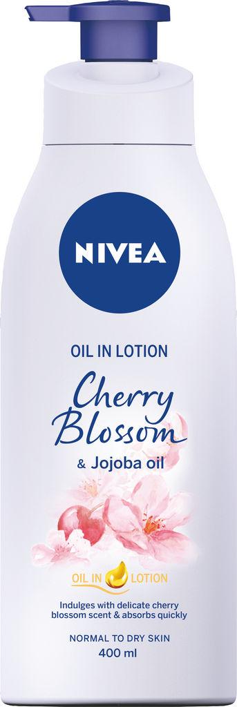 Oljni losjon Nivea, vonj češnje z jojobinim oljem, 400ml