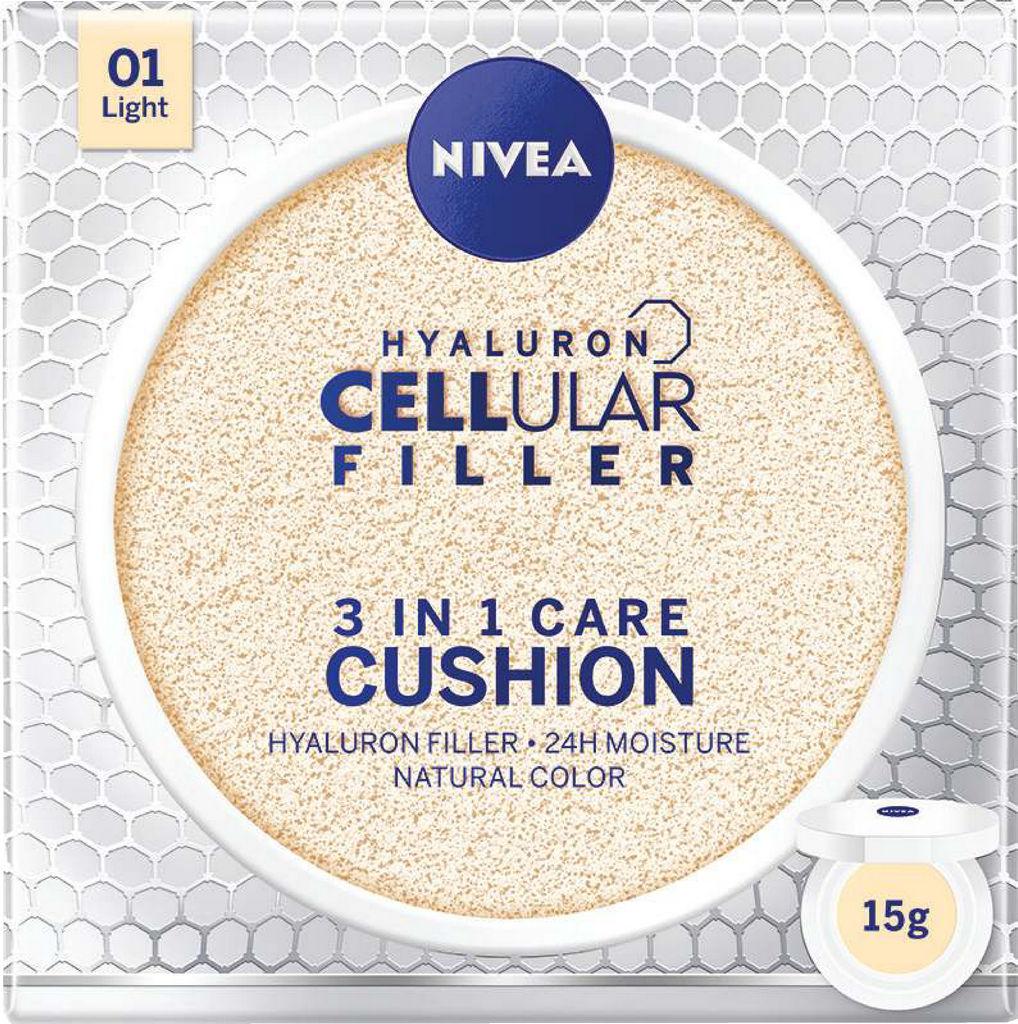 Krema Nivea, Cellular filler, Cushion 3v1, svetla, 15g