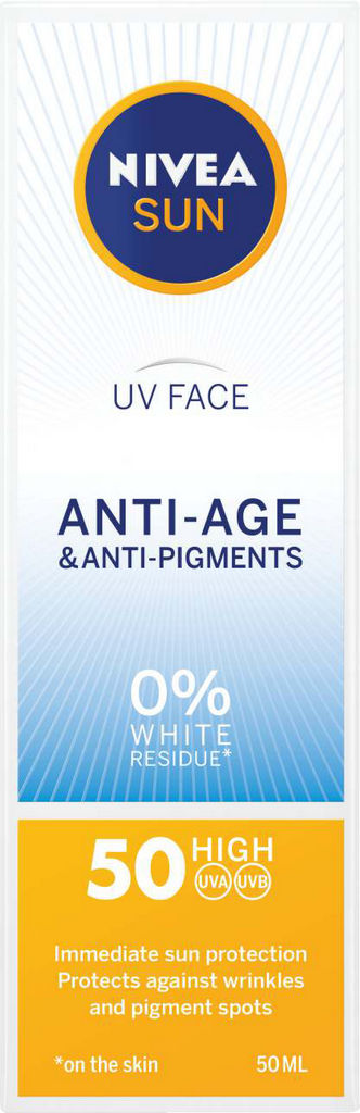 Krema Nivea Sun, Anti age&anti pigments, ZF 50, 50ml