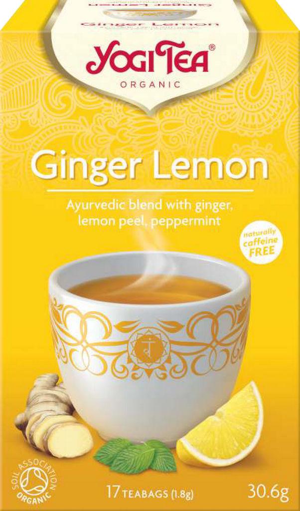 Čaj Yogi Tea ingver in limona, 36g