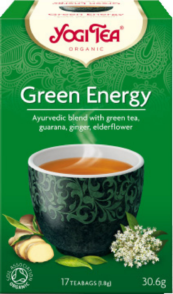 Čaj BioYogi, green energy, 30 g