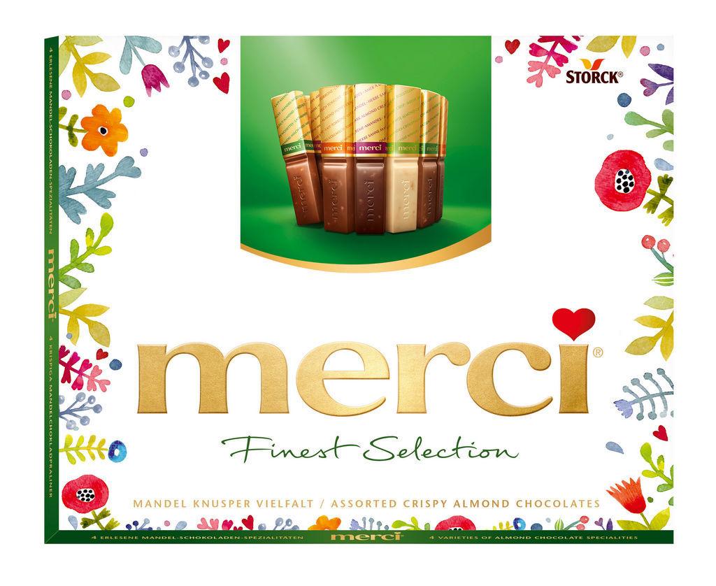 Bonbonjera Merci, knusper, finest sel., 250 g