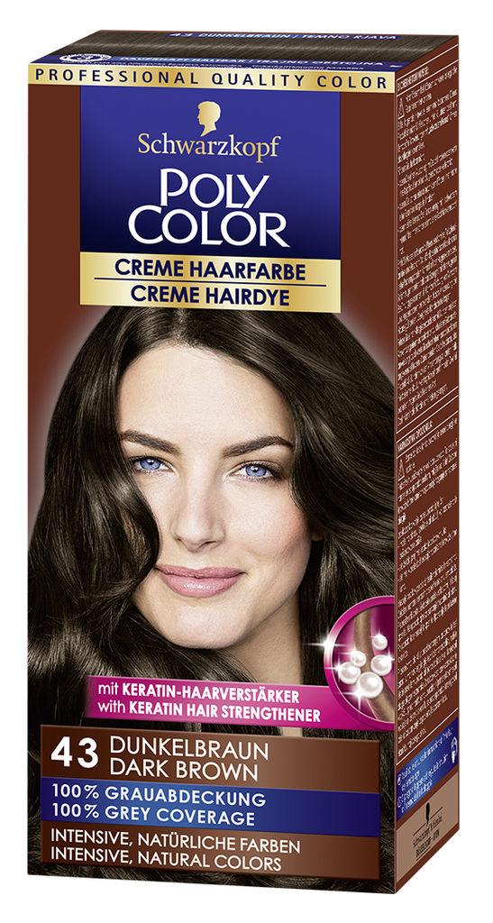 Barva za lase Poly Color, 43, rjava