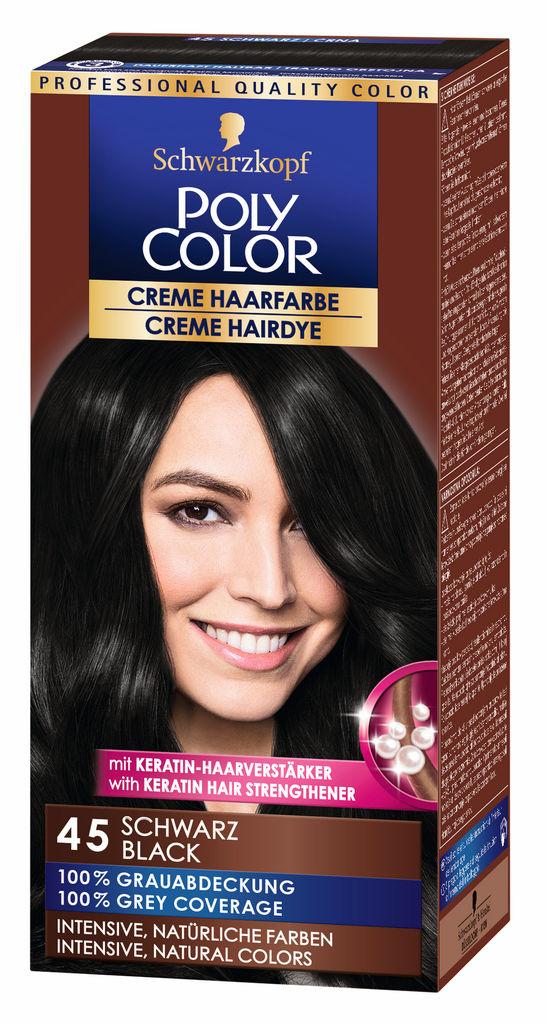 Barva za lase Poly Color, 45, črna