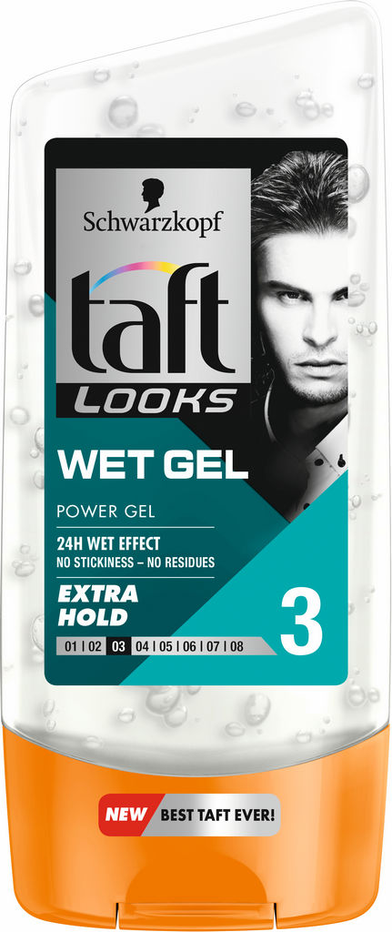 Gel za lase Taft Looks, wet look, 150ml
