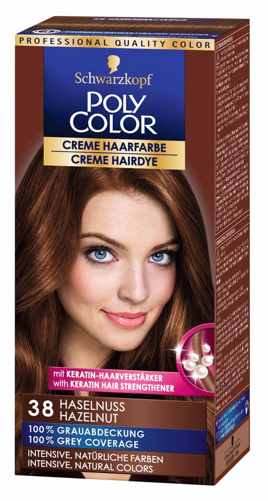 Barva za lase Poly Color, 38, lešnik