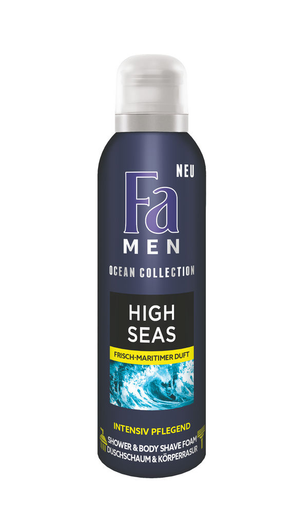 Gel za prhanje Fa, men, Ocean shower&shave pena, High seas, 200ml