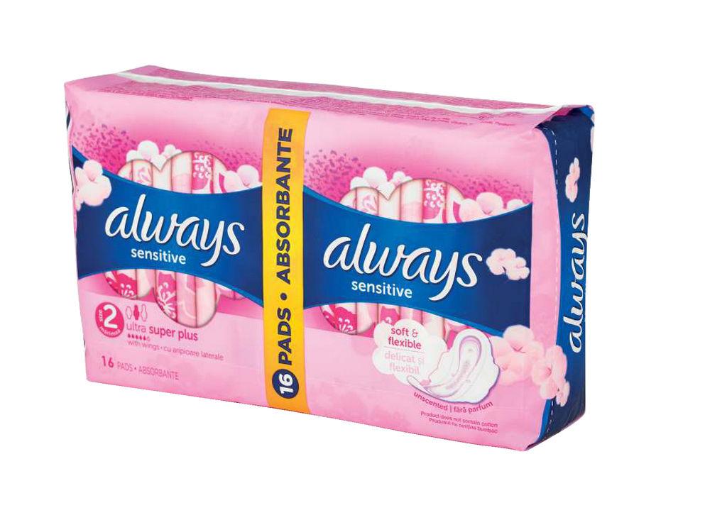 Higienski vložki Always u.sens.duo,2×8