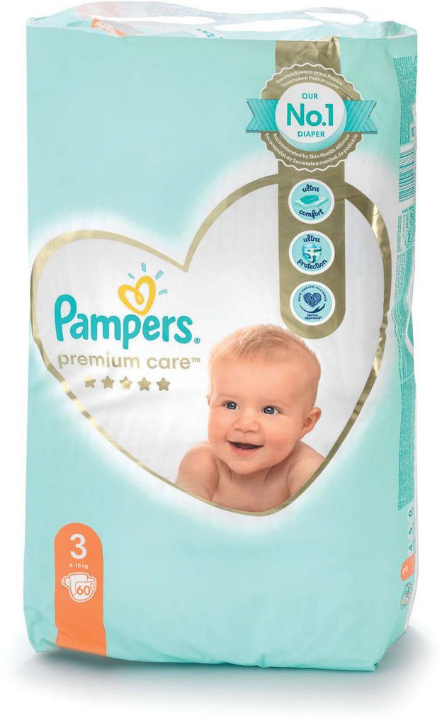 Plenice Pampers, Premium c., midi 3, 60/1