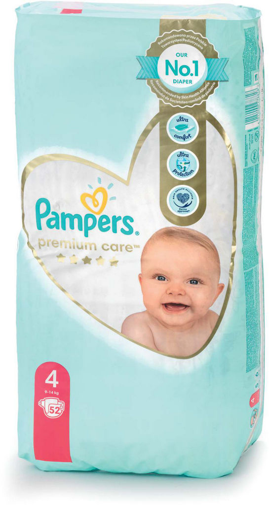 Plenice Pampers, Premium c., maxi 4, 52/1