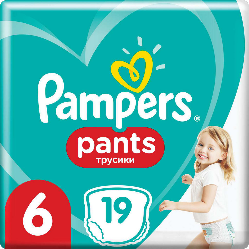 Pampers hlačne plenice Active baby, S6, 19/1