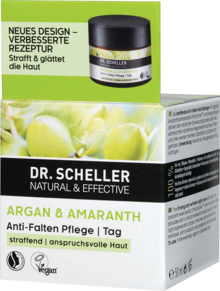 Krema za obraz Dr. Sheller z arganom in amarantom proti gubicam dnevna , 50 ml