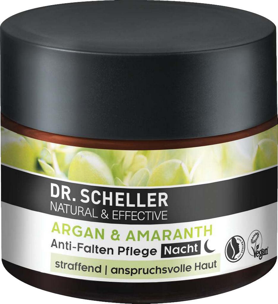 Krema za obraz Dr. Sheller z arganom in amarantom proti gubicam nočna, 50 ml