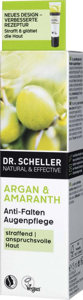 Krema za okrog oči Dr. Sheller z arganom in amarantom proti gubicam, 15 ml