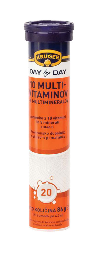 Tablete Kruger, šumeče, 10+5 multivit., 86 g