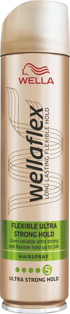 Lak za lase Wellaflex, Ultra strong, 250 ml