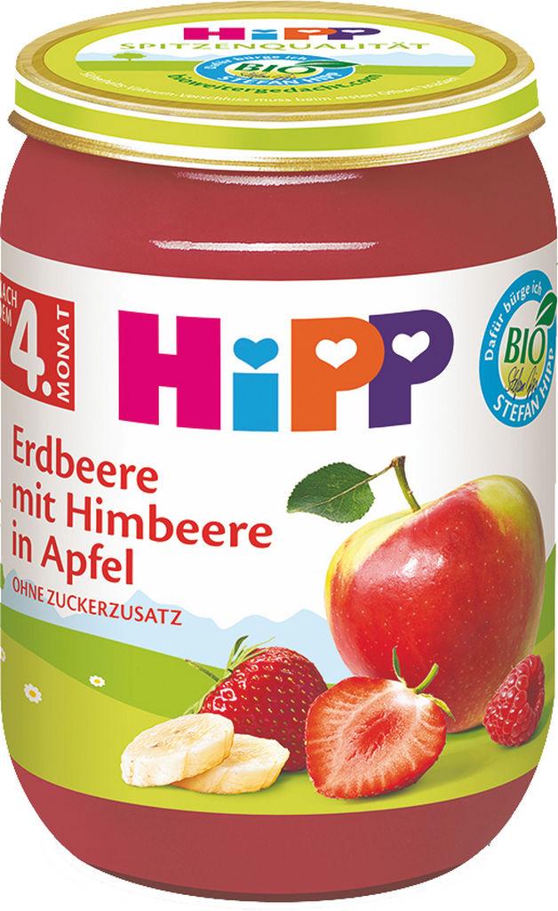 Kašica Bio Hipp, jagoda in malina, 190 g