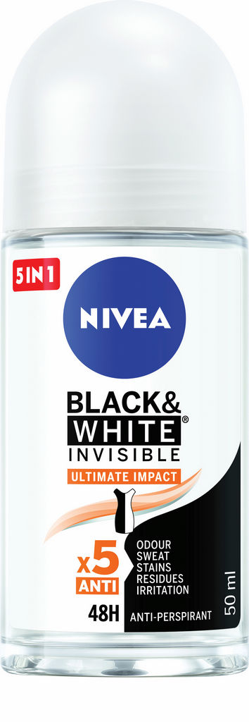 Antiperspirant Nivea roll-on ženski, black&white ultimate impact 50ml