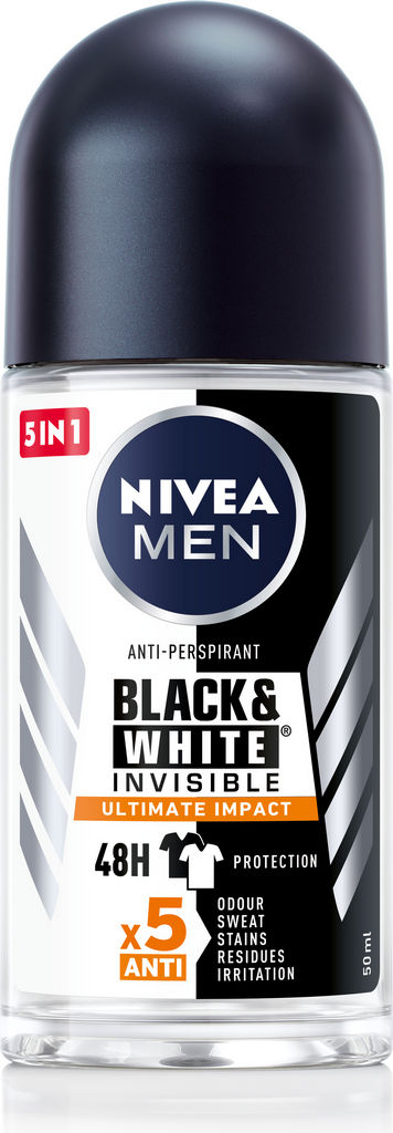 Antiperspirant Nivea roll-on moški, black&white ultimate impact 50ml