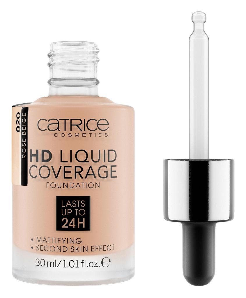 Puder Catrice tekoči HD Liquid coverage, odtenek 020 Rose beige