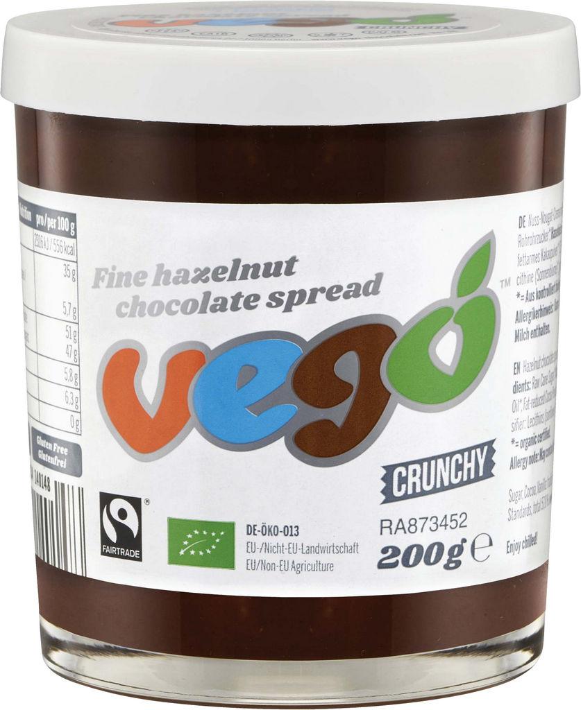 Namaz Bio Vego, čokolada z lešniki, 200 ml