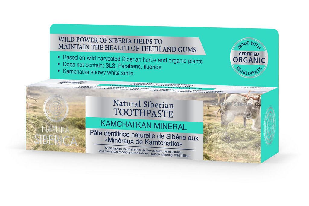Zobna pasta Natura Siberica, mineral Kamčat, 100ml