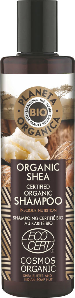 Šampon za lase Planeta Organica, bio z karitejevim maslom, 280ml