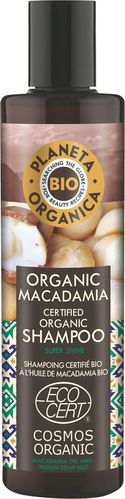 Šampon za lase Planeta Organica, bio z oljem makadamije, 280ml