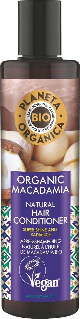 Balzam za lase Planeta Organica z eko oljem makadamije, 280ml