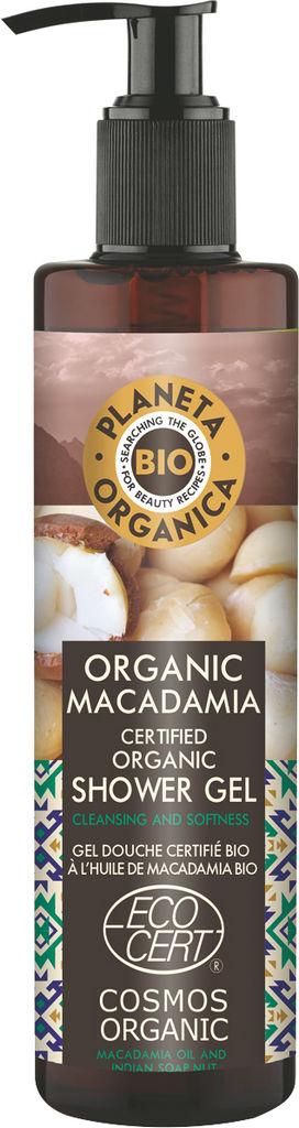 Gel za prhanje Planeta Organica, olje makadamije, 280ml