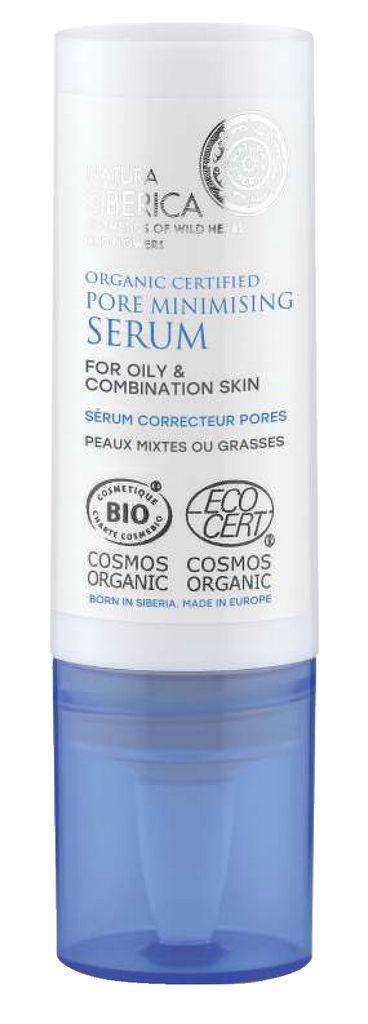 Serum Natura Siberica, za zmanjšanje obraznih por, 15 ml
