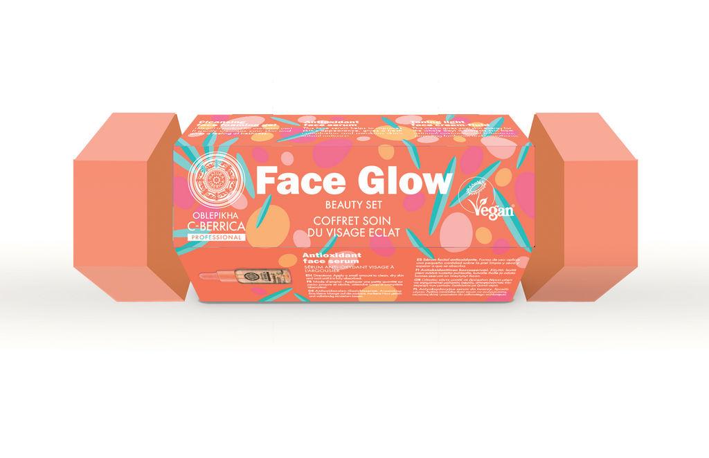 Darilni set Natura Siber., Face Glow, gel 75 ml + vl. kr. 30 ml + noč. kr. 30 ml