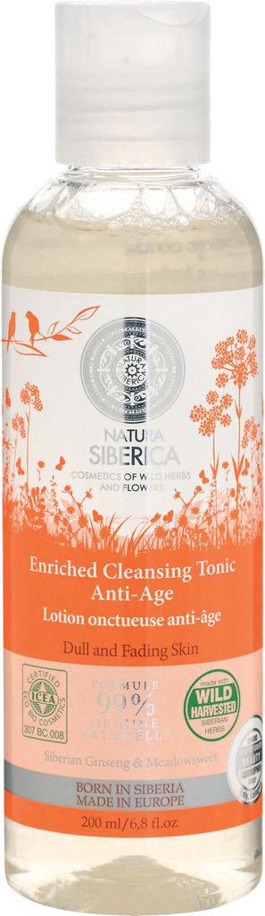 Tonik čistilni za obraz Natura Siberica, Anti-age, 200 ml
