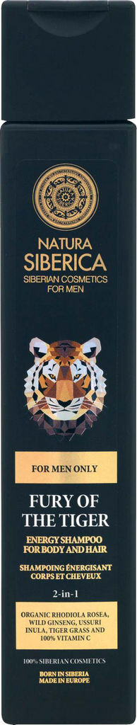 Gel za prhanje Natura Siberica, Fury of the tiger moški, 250ml