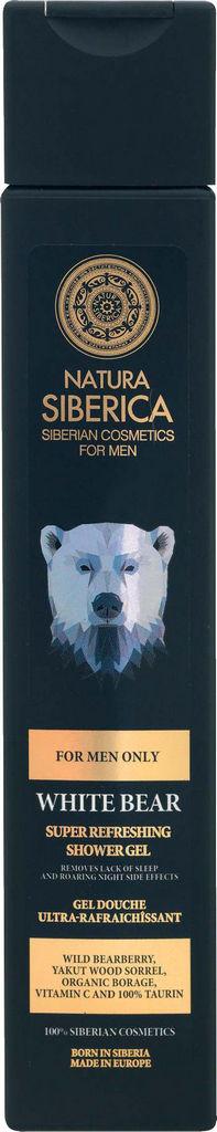 Gel za prhanje Natura Siberica, White bear moški, 250ml