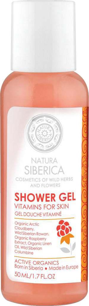 Gel za prhanje Natura Siberica, z vitamini za telo, 50 ml