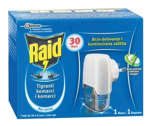Insekticid Raid, Silver, el.aparat, 30 noči