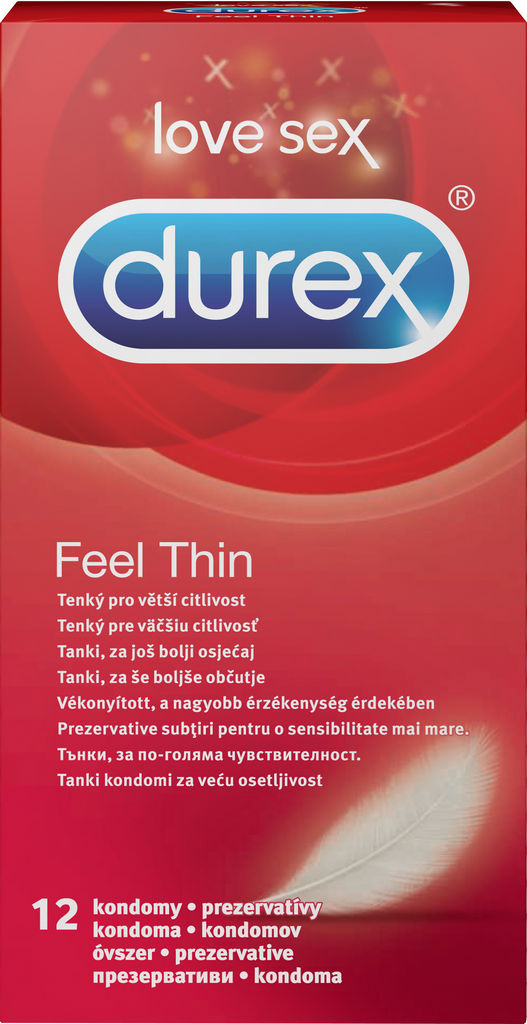 Kondomi Durex, Feel thin, 12/1